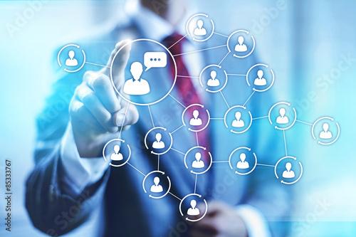 Social media marketing concept connectivity illustration Poster