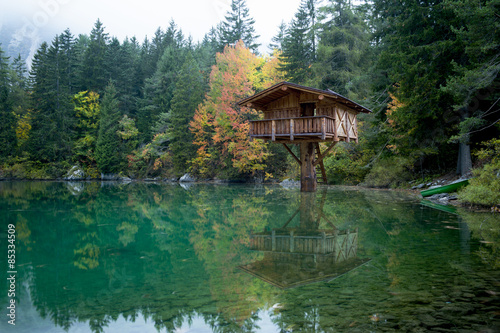 Fotografie, Obraz  Capanna sul lago