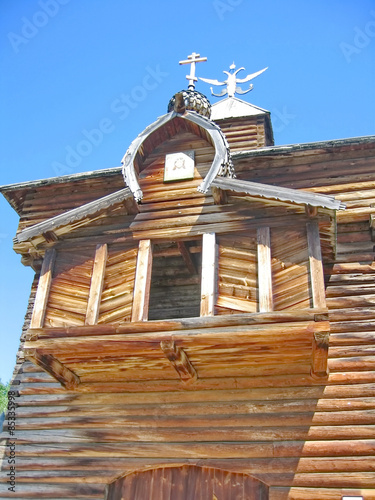 Poster Monument Old Russian Wooden Architecture