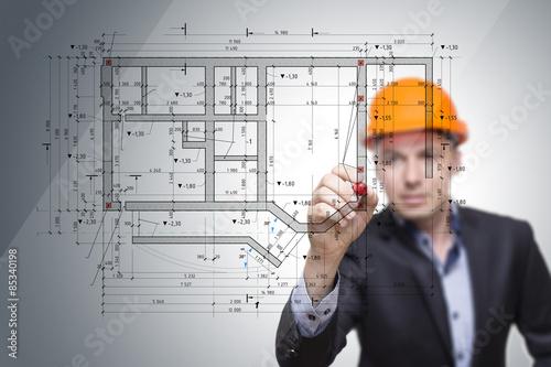 Fotografering building plan