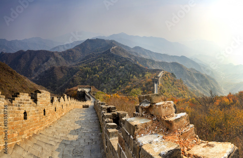 In de dag China China Great Wall Down Distant