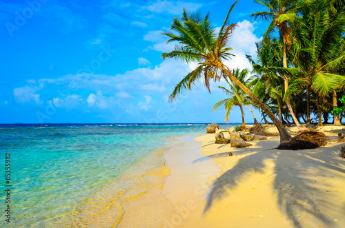 Poster Tropical plage Paradise Tropical Island