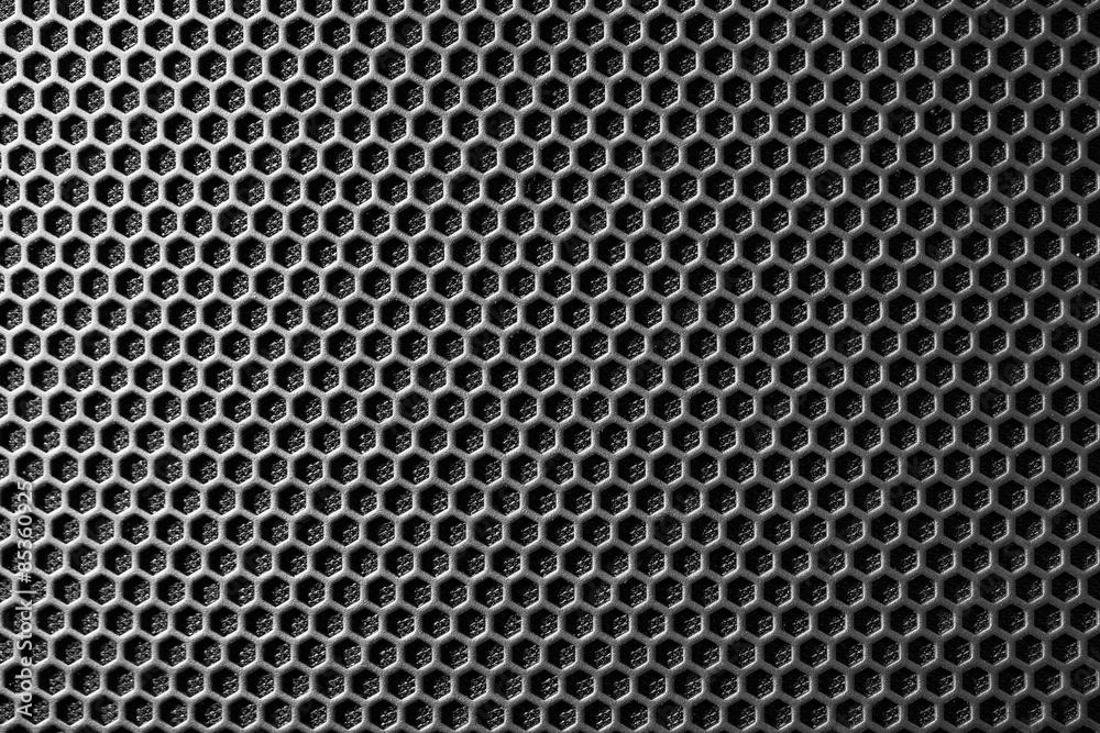 Fototapety, obrazy: metal mesh of speaker grill texture