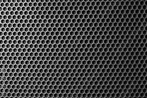 Poster Metal metal mesh of speaker grill texture