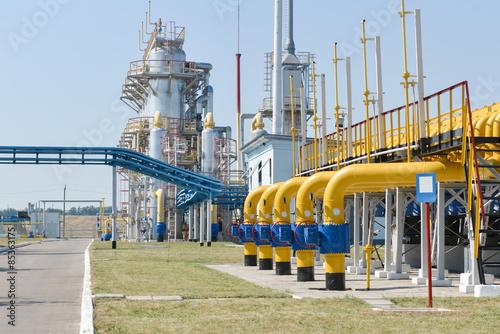 Fotografie, Obraz  Gas compressor station