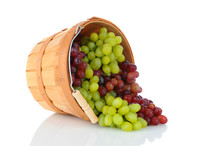 Basket Of Grapes On Its Side