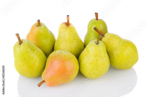 Bartlett Pears on White Wallpaper Mural