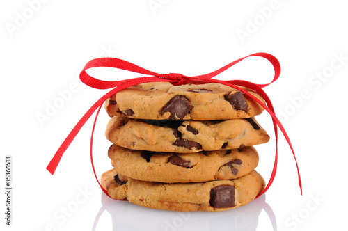Tuinposter Koekjes Cookies Tied With Ribbon