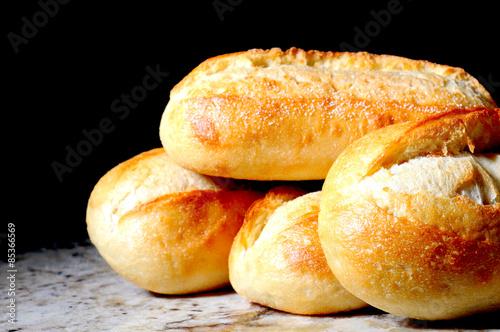 Fotografia, Obraz  French Bread Baguettes on granite