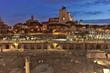 Roma, Fori Imperiali illuminati e altare della Patria sullo sfondo