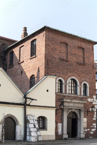 Old Synagogue in jewish district of Krakow - Kazimierz , Poland #85381550