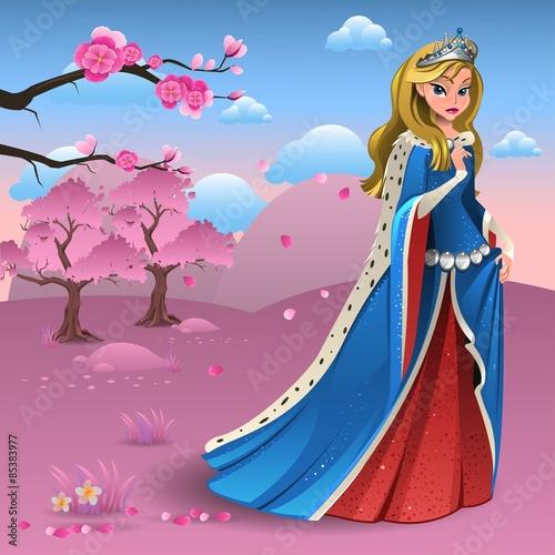 Fotografie, Obraz  Pink landscape with queen