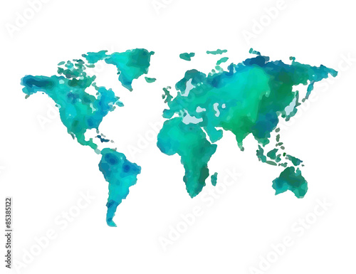 Photo  Earth a hand-drawn vector illustration gouache