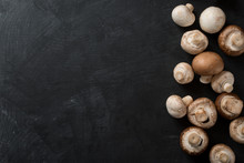 Dark Food Background Mushrooms