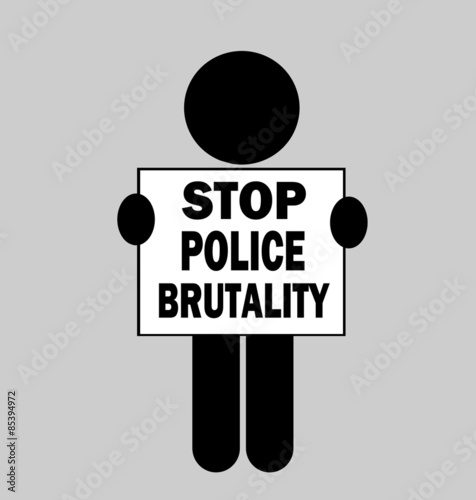 Photo  person holding stop police brutality protest sign