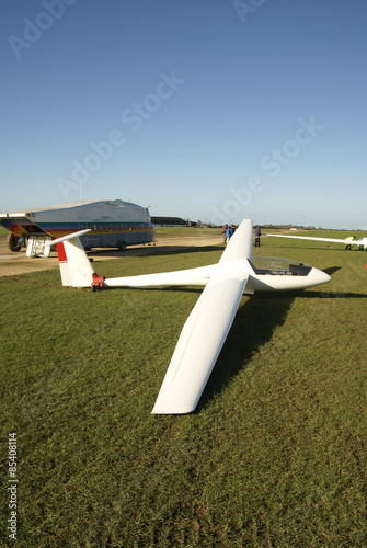 glider aircraft on airfield