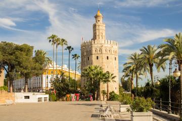 Fototapeta na wymiar torre del oro sevilla