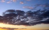 Niebo przy zachodzie słońca