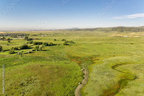 Fotografie, Obraz  aerial view of foothills prairie in Colorado