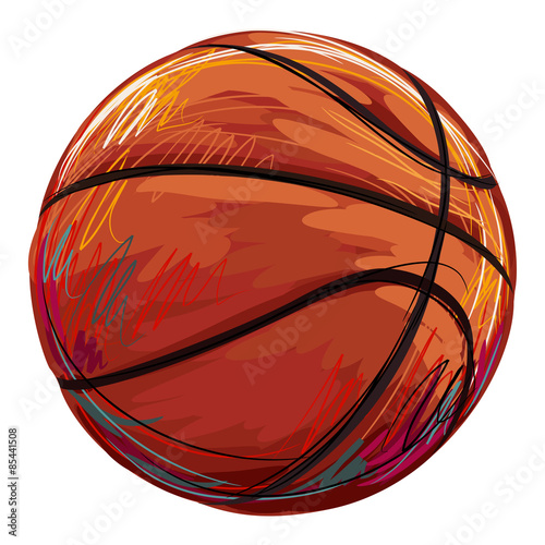 mata magnetyczna Basketball Created by professional Artist. This illustration is created by Wacom tabletby using grunge textures and brushes