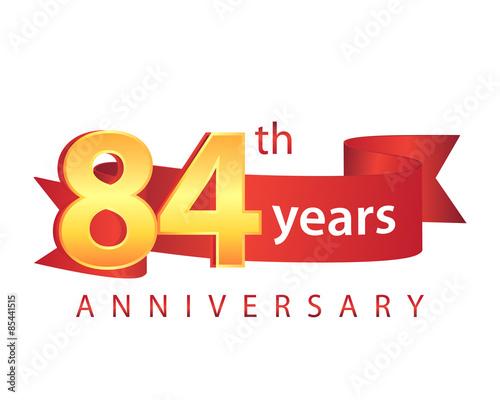 Fotografia  84 Ribbon Anniversary Logo