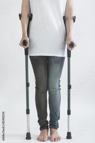 Obraz na płótnie crutches