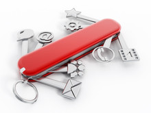 Swiss Knife With Technology Ic...