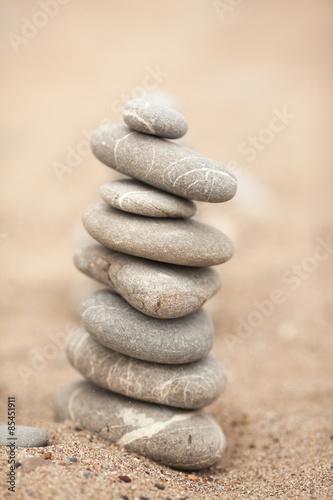 Photo sur Plexiglas Zen pierres a sable Zen stones garden