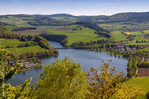 Foto auf Gartenposter Fluss Heringhausen und Stormbruch am Diemelsee