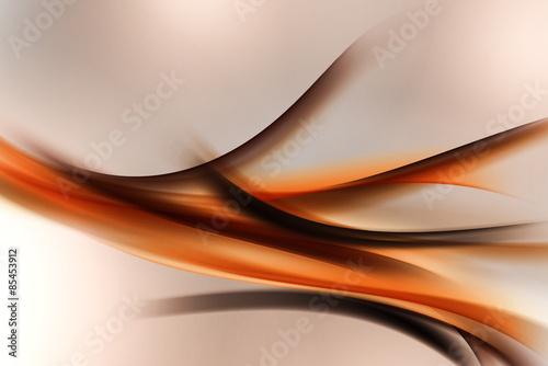 Nowożytny pomarańczowy brown fractal abstrakta tło
