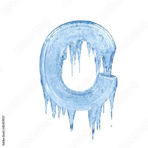 Letter C  Ice Font Isolated On White Background  Alphabet