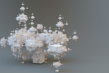 Abstract fractal solid. Surreal structure.