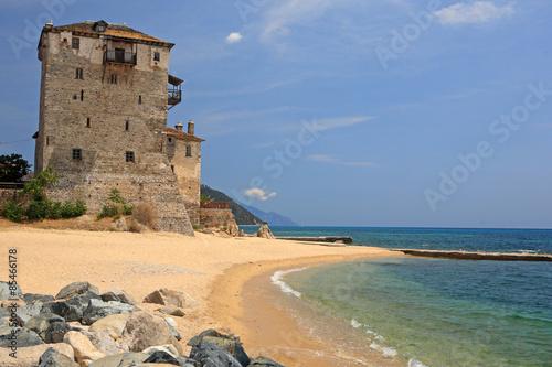 Valokuva  Ouranoupoli Tower on Athos peninsula, Chalkidiki, Greece