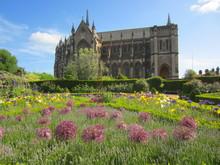 Church And Flower Garden