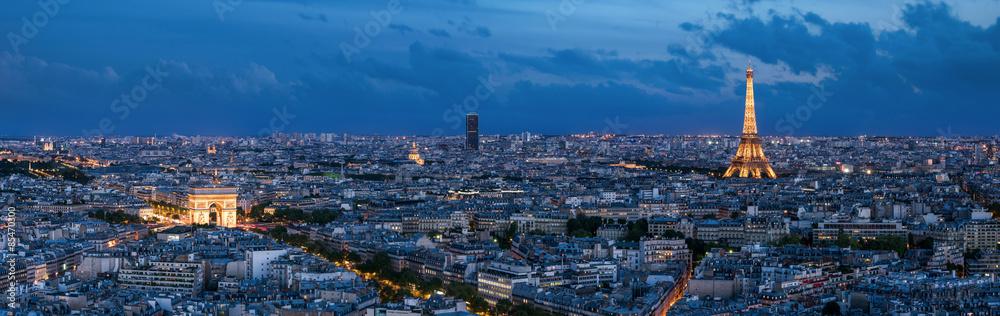 Fototapety, obrazy: Paris à l'heure bleue