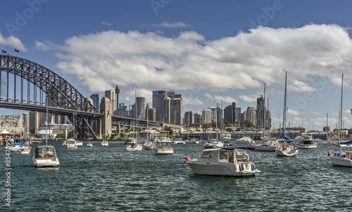 fototapeta na lodówkę Sydney Skyline von der Lavender Bay