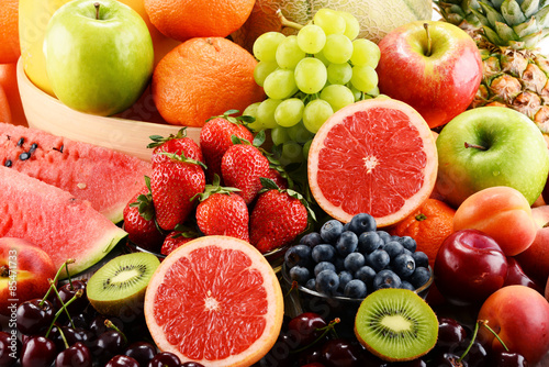 Poster Fruit Composition with assorted fruits