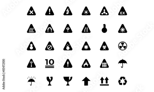 Fotografía  Warning Vector Icons 1