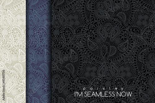 Materiał do szycia Seamless paisley pattern