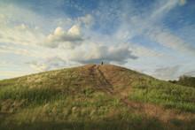 Mound At Sunset