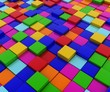 pattern of colored cubes