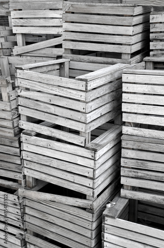 Old Wooden Crab Traps Stack Up On The Dock Buy This Stock Photo