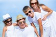 Family, Beach, Latin American and Hispanic Ethnicity.