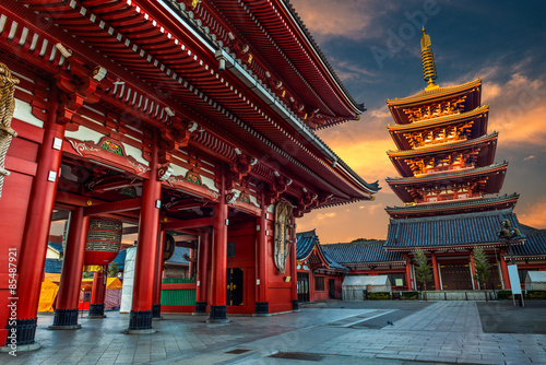 Canvas Prints Japan New Year at Sensoji Temple