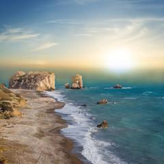 Fototapeta Morze evening sea bay