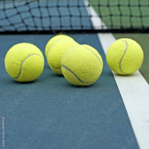pile of tennis ball Poster