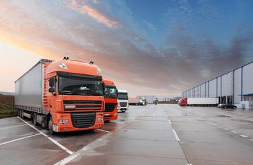 Fototapeta Truck in warehouse - Cargo Transport
