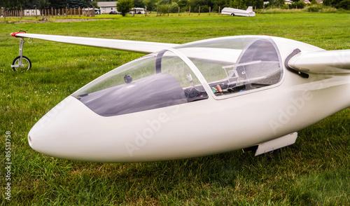 Segelflugzeug vor dem Start