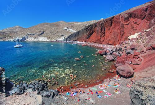 The Red Beach in Santorini, Greece Canvas