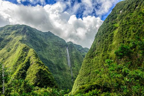 Poster Ile Cascade blanche, Reunion island